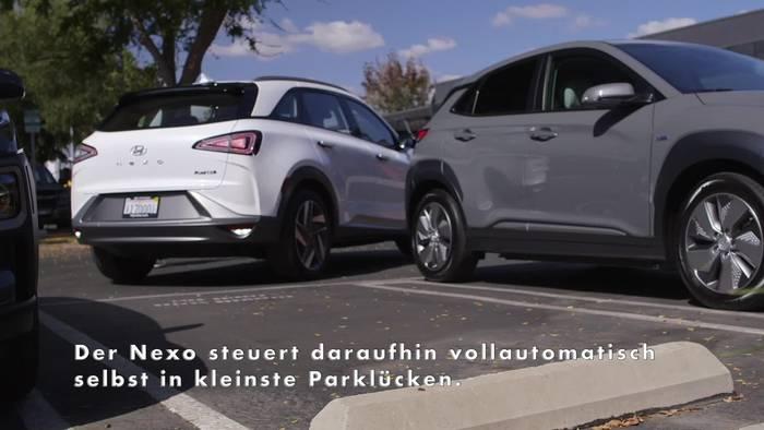 News video: Der Hyundai Nexo - Automatischer Einparkassistent mit Fernbedienung übernimmt das Rangieren