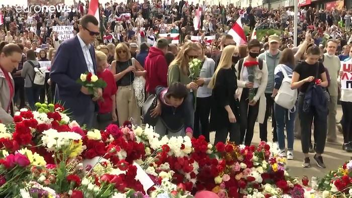 News video: Trauerfeier für getöteten Demonstranten in Minsk - Zweifel an der Todesursache