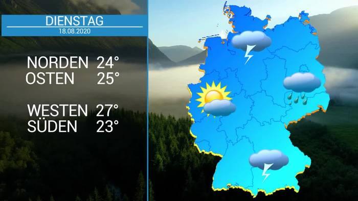 Video: Deutschland-Wetter: 5-Tage-Trend-Weiterhin Hitze und Gewitter