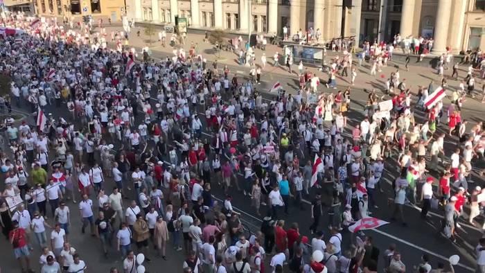 News video: Proteste in Belarus: Kreml warnt Ausland vor Einmischung