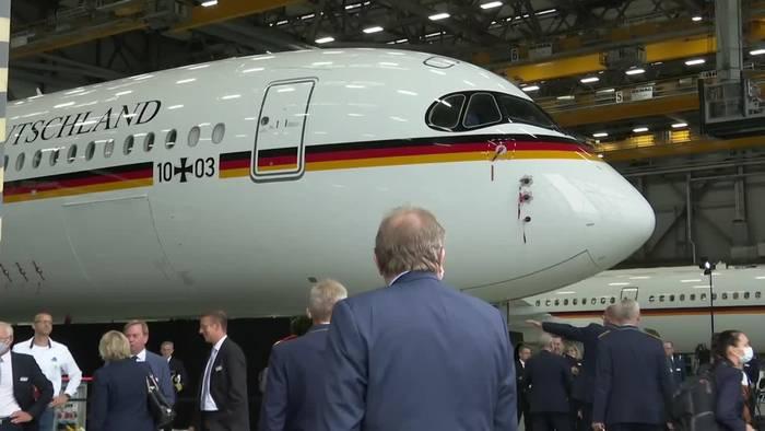 News video: Erster A350 als Regierungsflieger offiziell übergeben