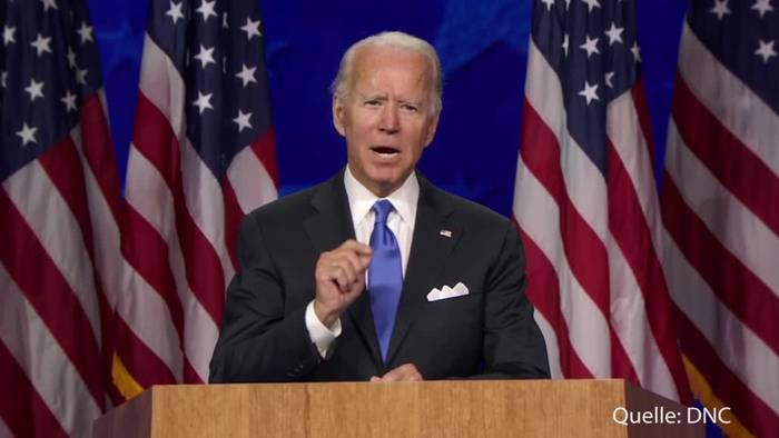 News video: Biden nimmt Nominierung an - Herausforderer Trumps