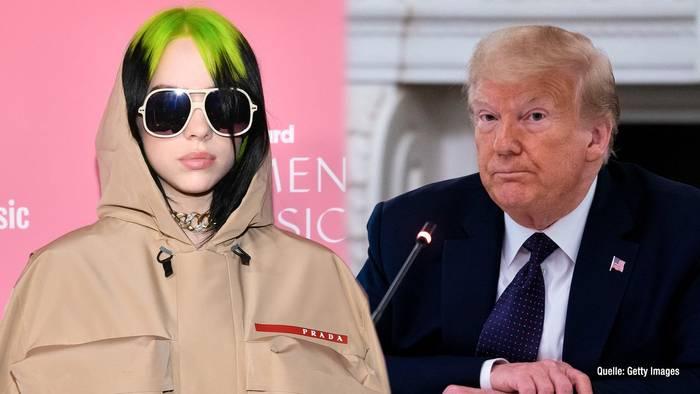 News video: Billie Eilish bezieht Stellung gegen Donald Trump