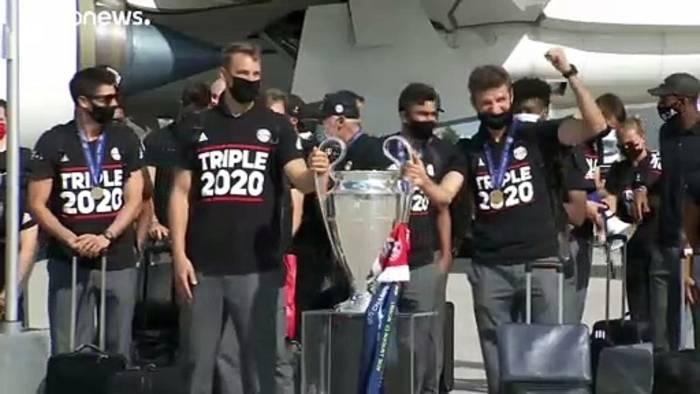 News video: Nach 1:0 in Lissabon: Bayern zurück in München