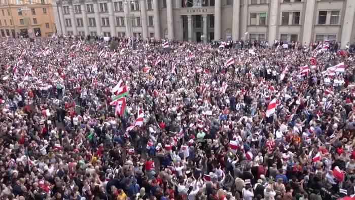 Video: Lage in Belarus gespannt - Neue Streiks gegen Lukaschenko