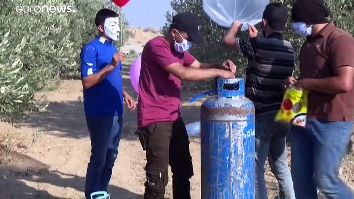 News video: Israel: Laserkanone gegen Brandballons der Hamas
