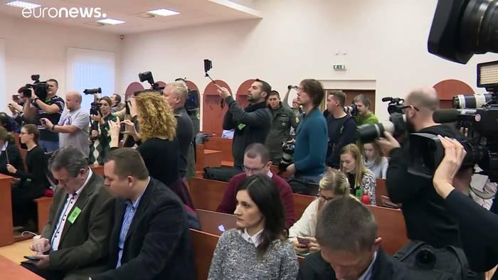 News video: Slowakei: Heute soll das Urteil im Prozess um den Mord am Journalisten Kuciak fallen