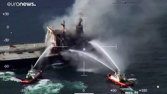 News video: Feuer auf Öltanker vor Sri Lanka unter Kontrolle