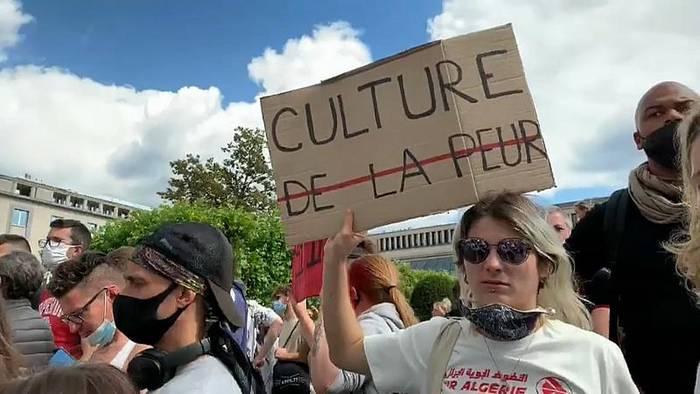 News video: Coronakrise: Kultur- und Gastronomiebeschäftigte machen in Brüssel mobil