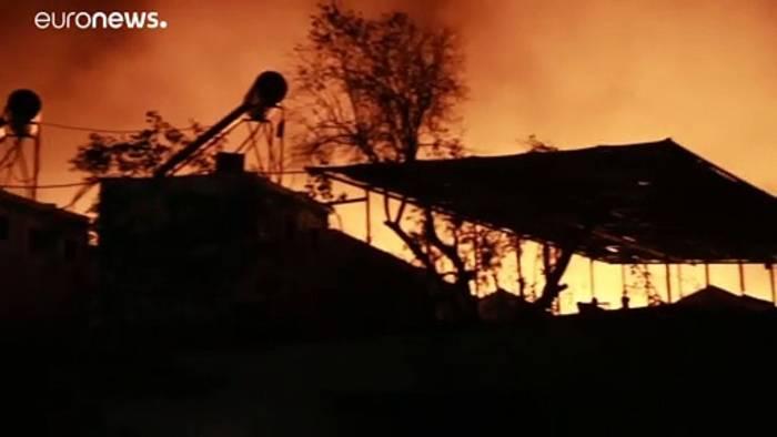 Video: Lager Moria durch Brand zerstört: Wohin sollen 13.000 Geflüchtete?