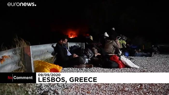 News video: Flüchtlingslager Moria brennt fast vollständig nieder