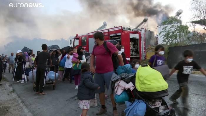 Video: Zweites Feuer in Moria - was soll aus tausenden Flüchtlingen werden?