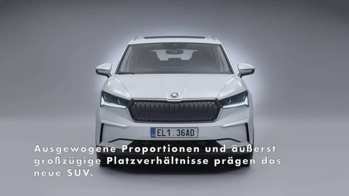 News video: Die Highlights des neuen ŠKODA ENYAQ iV - das Außendesign