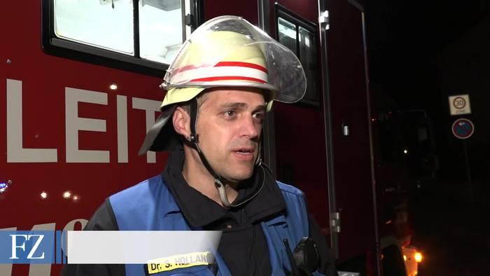 Video: Großbrand in ehemaligem Hotel
