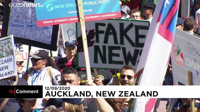 News video: Neuseeländer protestieren gegen Corona-Maßnahmen