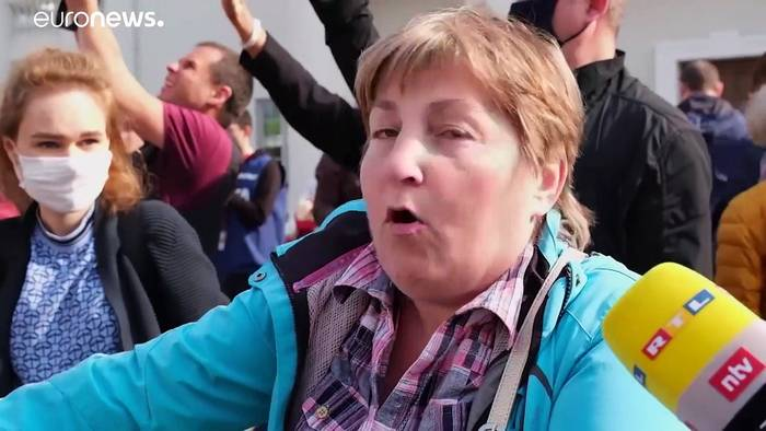 News video: Gewalt gegen belarussische Demonstrantinnen