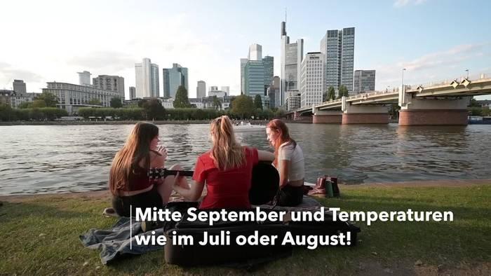 News video: Über 30 Grad: Spätsommerhitze in Deutschland