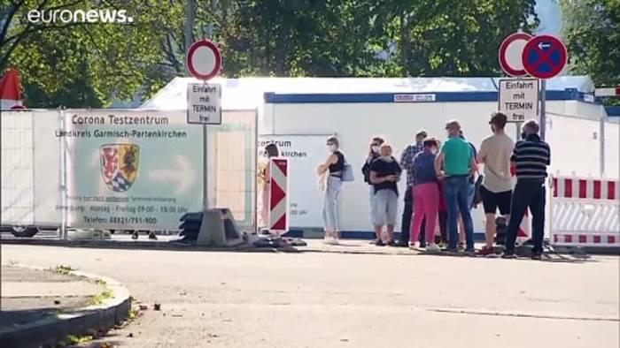 News video: Warten auf das Ergebnis der Corona-Massentests von Garmisch-Partenkirchen