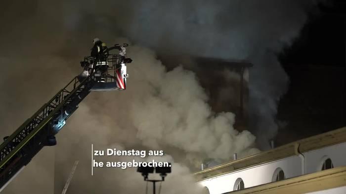 News video: Feuer beim historischen Badehaus von Bad Neuenahr