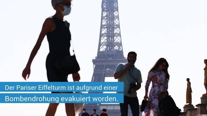 Video: Pariser Eiffelturm nach Bombendrohung evakuiert