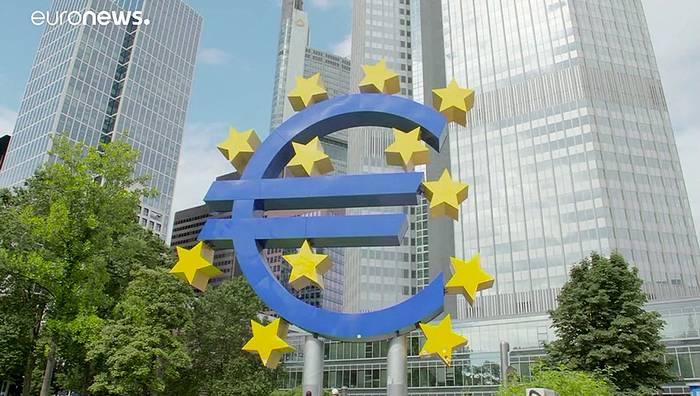 News video: EZB-Wirtschaftsbericht: BIP in der Eurozone um 11,8 % gesunken
