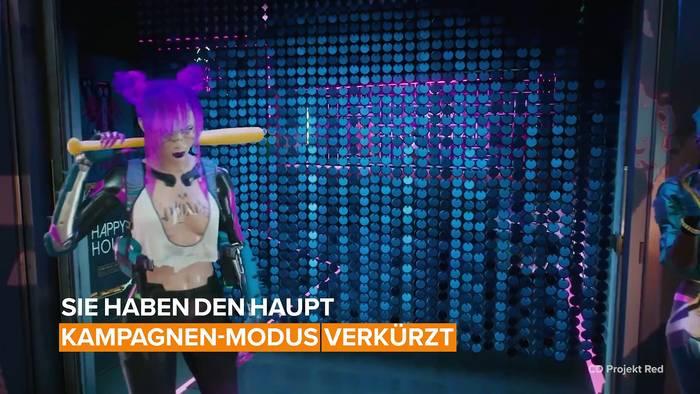 News video: Wenn du erwartest, dass Cyberpunk 2077 ein langes Spiel wird, wirst du vielleicht enttäuscht sein