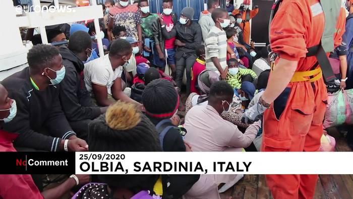 News video: Alan Kurdi läuft in Sardinien ein