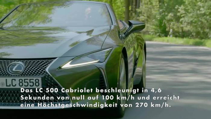 Video: Neues Lexus LC Cabriolet Highlights