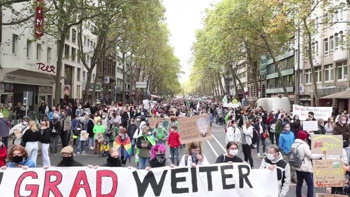News video: Zigtausende demonstrieren bundesweit für mehr Klimaschutz