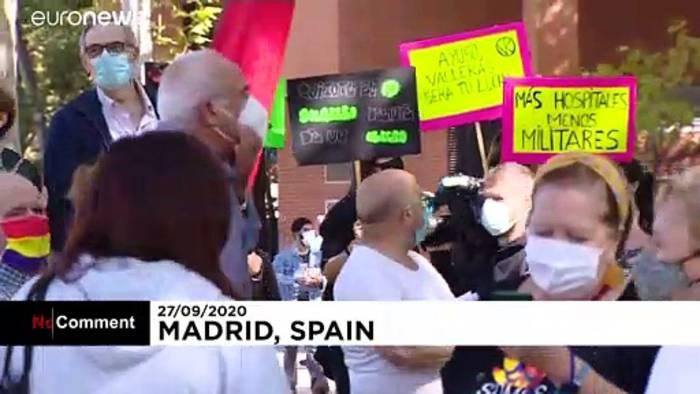 Video: Proteste gegen Coronabeschränkungen in Madrid