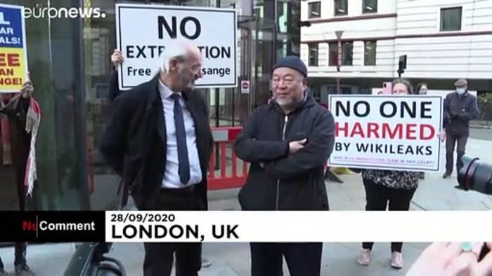 News video: Ai Weiwei protestiert gegen Auslieferung von Assange