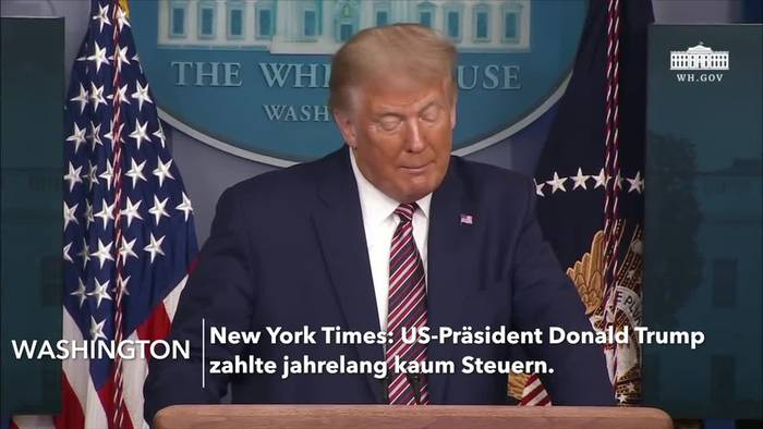 News video: Zahlte Trump jahrelang kaum Steuern? Präsident: «Fake News»
