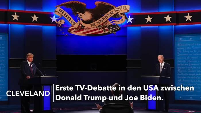 Video: USA: Chaotische erste TV-Debatte von Trump und Biden