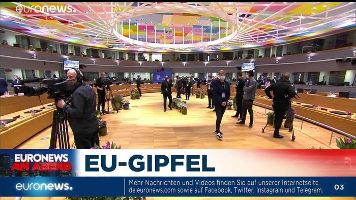 Video: EU-Gipfel sucht Antworten auf schwierige Fragen - Euronews am Abend am 01.10.