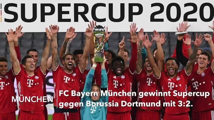 News video: FC Bayern auch Supercup-Sieger gegen Dortmund
