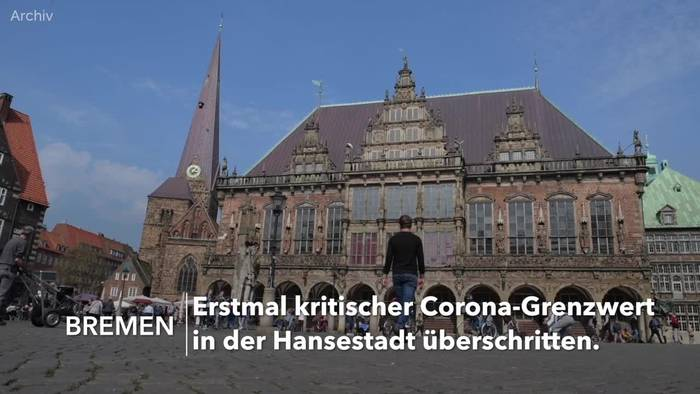 News video: Bremen überschreitet kritische Corona-Grenze