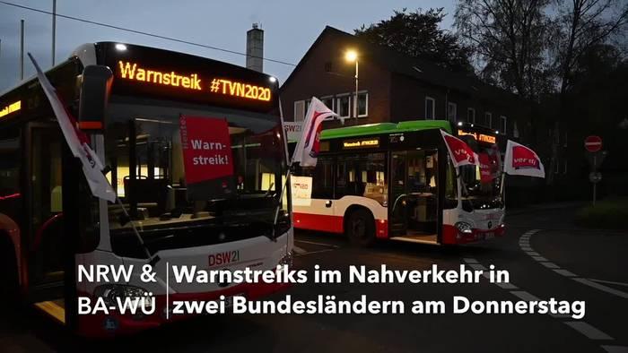 News video: Stillstand in NRW und Baden-Württemberg: Streiks im ÖPNV
