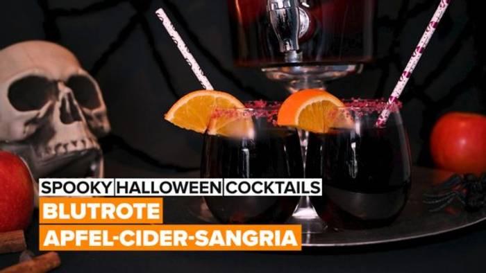 News video: Halloween-Cocktails: Blutrote Apfel-Cider-Sangria