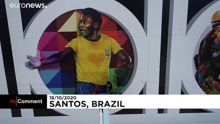 News video: Brasilien: Denkmal für Pelé
