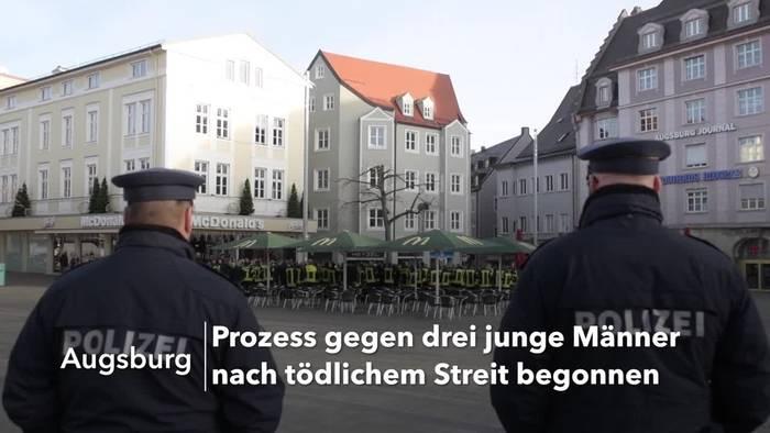 Video: Prozess nach tödlicher Gewalttat am Augsburger Königsplatz