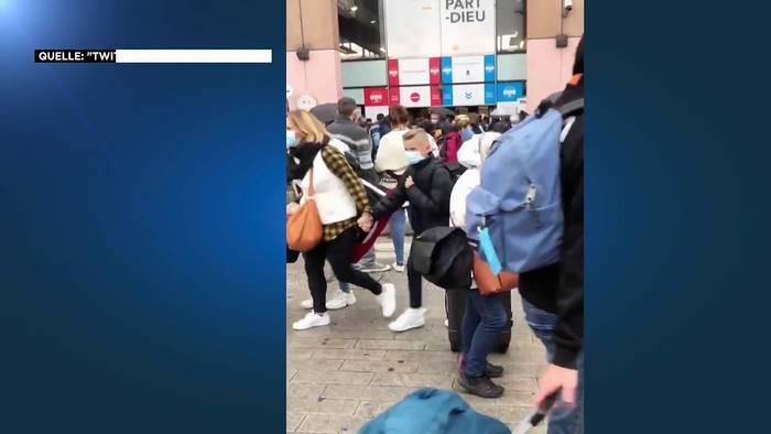News video: Bombendrohung in Lyon - Hauptbahnhof Part Dieu geräumt