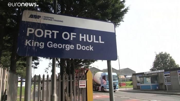 Brexit: Unsicherheit auch am Hafen in Hull