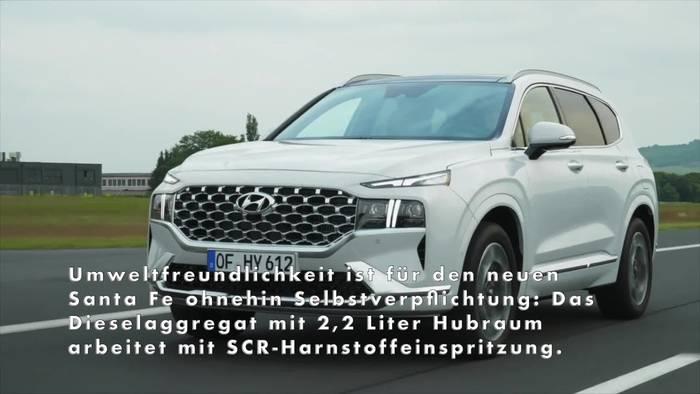 News video: 2021 Hyundai Santa Fe - SUV-Flaggschiff bietet Platz, Komfort und Sicherheit auf Top-Niveau
