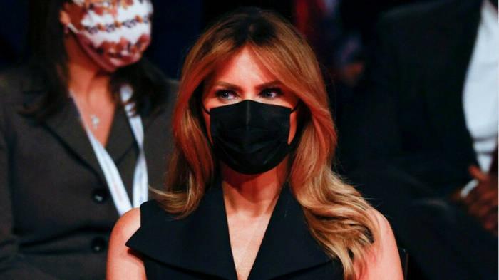 News video: TV-Duell: Melania Trump präsentiert sich mit Maske