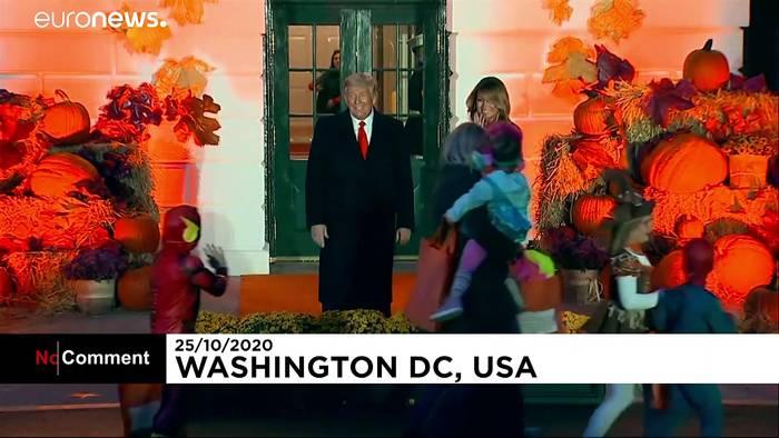 News video: Zum Gruseln: Ehepaar Trump lädt zur Halloween-Parade