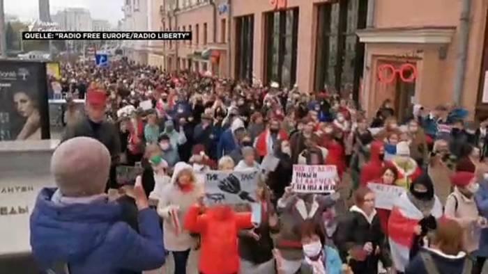 News video: Proteste und Festnahmen in Belarus - Druck auf Lukaschenko wächst