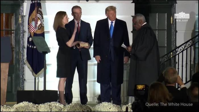 News video: USA: Konservative Barrett zieht ins Oberste Gericht ein