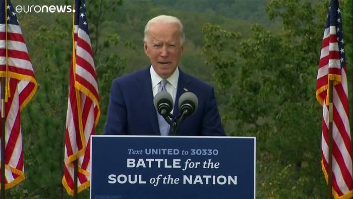 News video: Im O-Ton: So lief Joe Bidens Wahlkampfauftritt in WarmSprings, Georgia