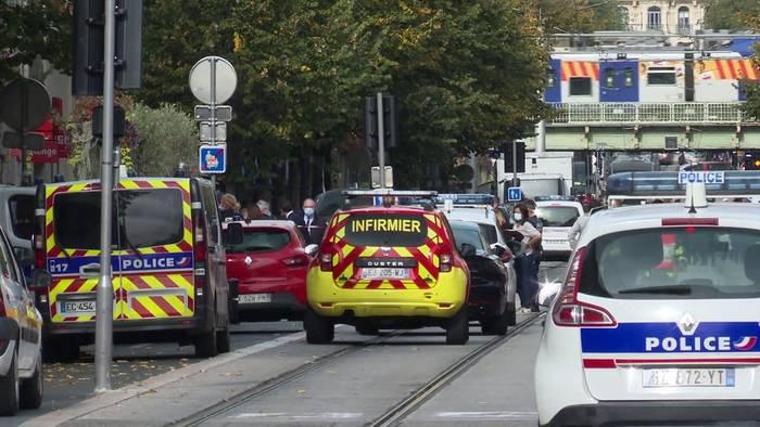 News video: Schock nach Messerattacke von Nizza: offenbar 21-Jähriger Angreifer