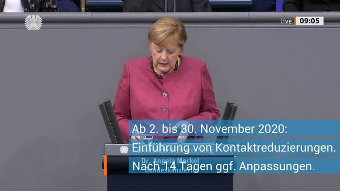 News video: Corona: Merkel erklärt neue Lockdown-Regeln